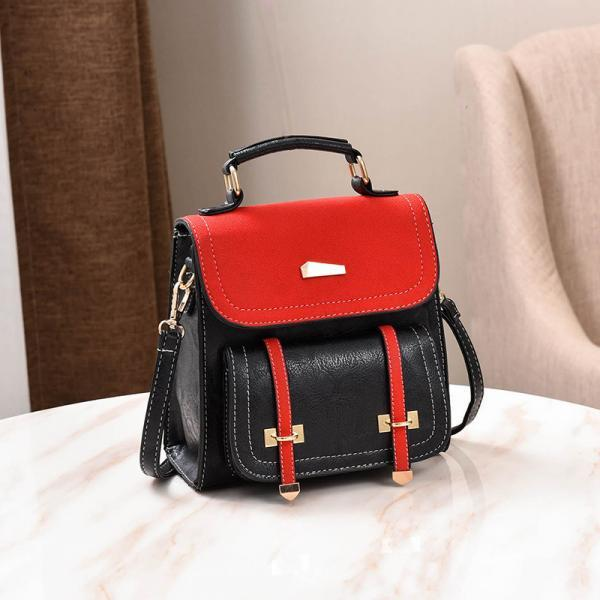 Preppy Chic Solid Color Matting Women Backpack
