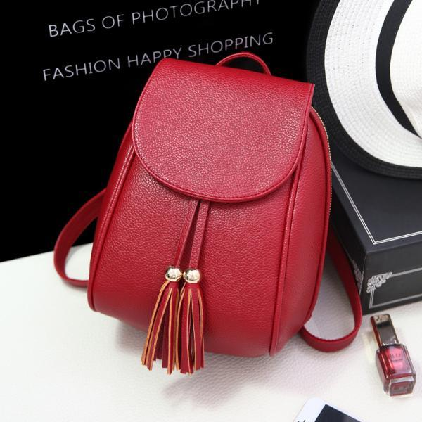 All Match Tassel PU Backpack