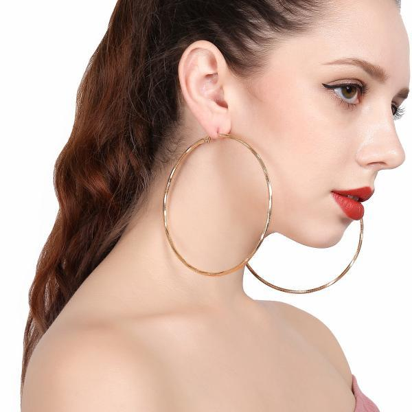 Hollow-out Simple Circle Geometric Earrings