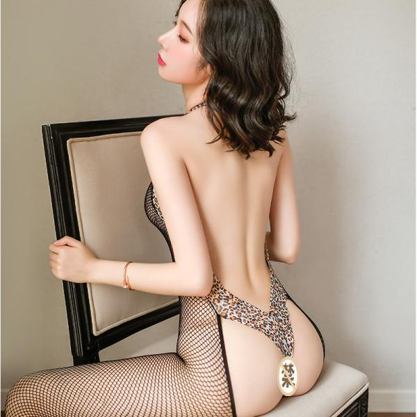 Sexy Leopard Print No shedding Fashion Hollowing out Lace Jumpsuit For Women