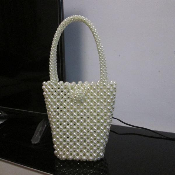 Hadmade Customize Pearl Bucket Bags