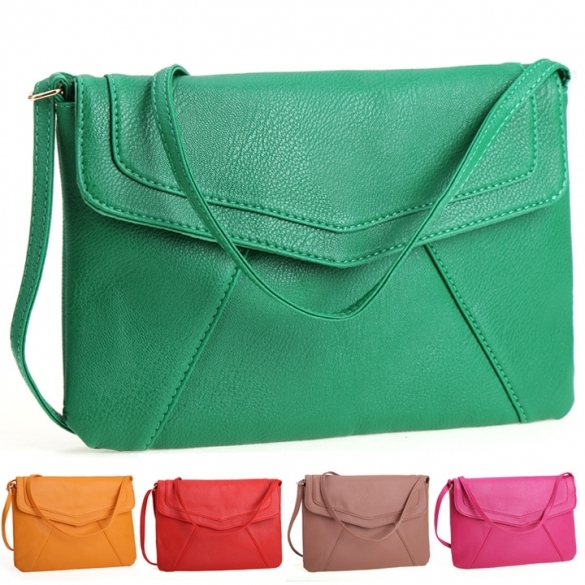 New Women Lady Envelope Clutch Shoulder Evening Handbag Tote Bag Purse 5 Colors