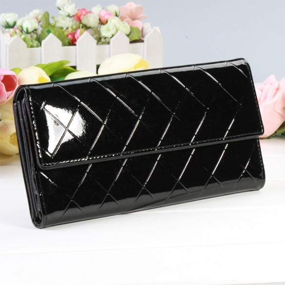 New Fashion Women Fashion Button Clutch Purse Lady Long Purse Wallet