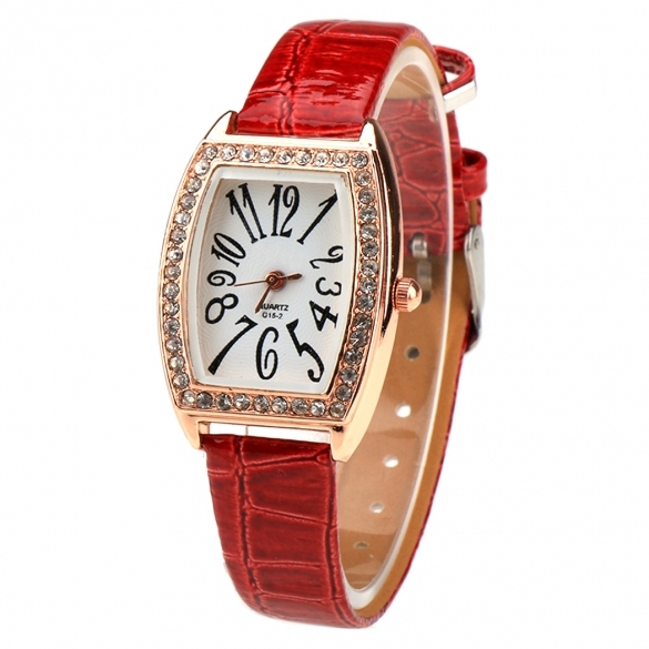 New Fashion Women Casual Rhinestone Watch Rectangle Wristwatch Quartz Watch