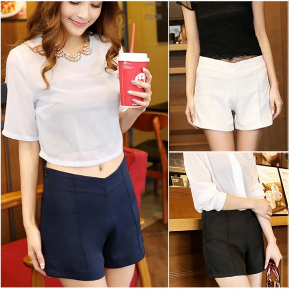 Women's Candy color Sexy Summer Casual High Waist Mini Shorts Hot Pants Hotsale