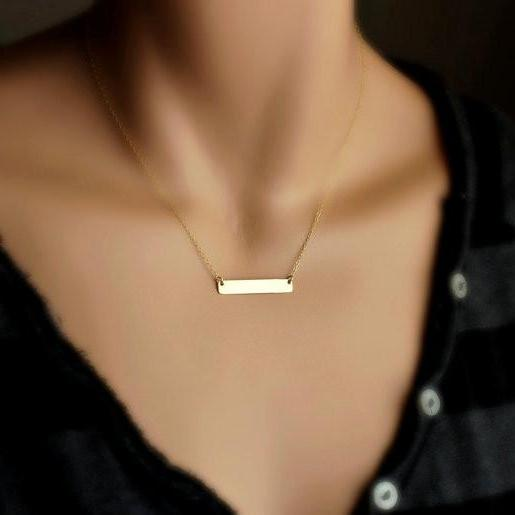Simple Strip Short Clavicle Necklace