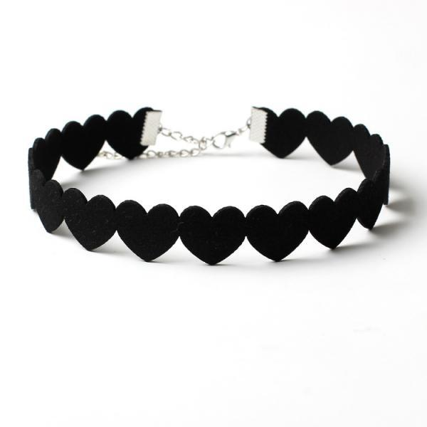 South Korea Velvet Heart Necklace collar