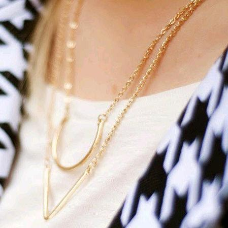Fashion Simple Geometric Triangle Necklace