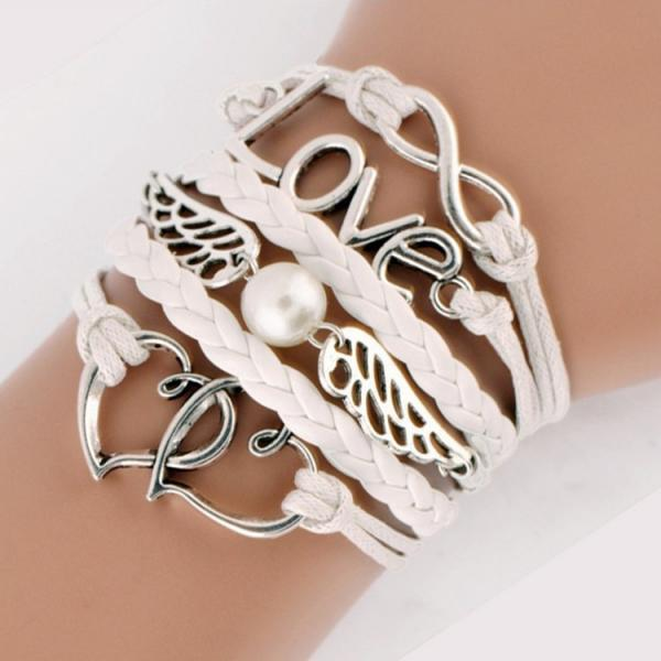 Double Heart Angel Wings Fashion Bracelets