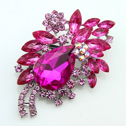 High-end Multi-color Diamond Brooch