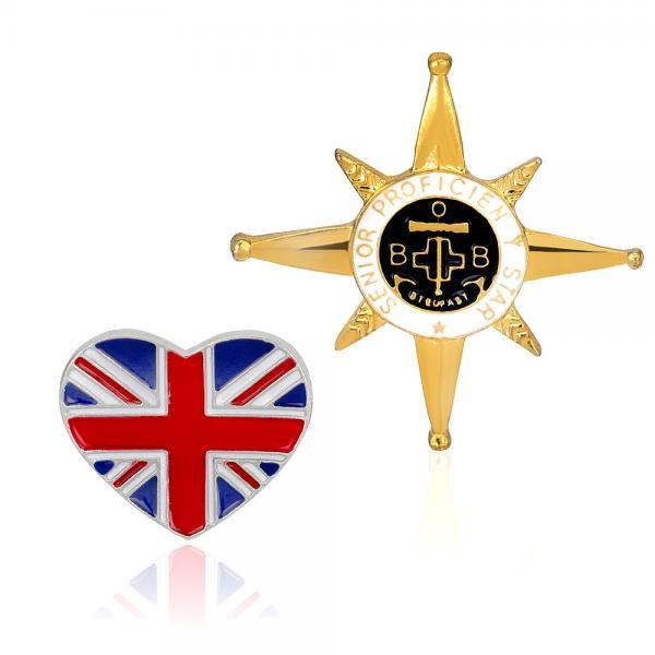 England Star Badge Brooch