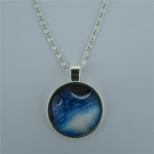Mysterious Universe Planet Diamond Pendant Necklace