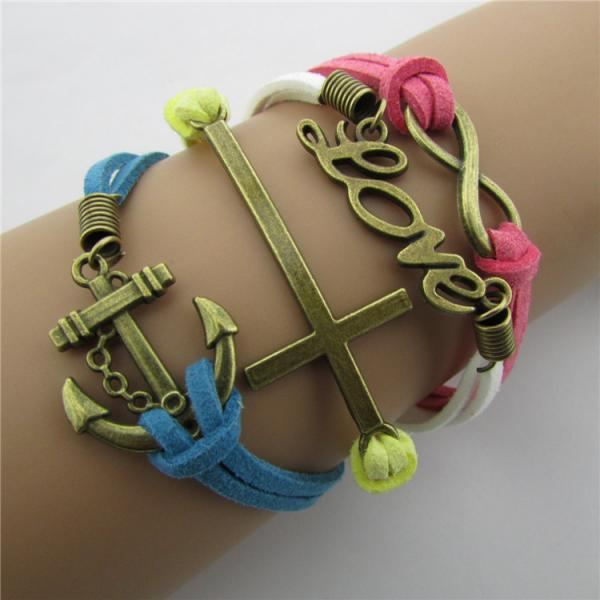 Joker LOVE Anchor Multi-layer Bracelet