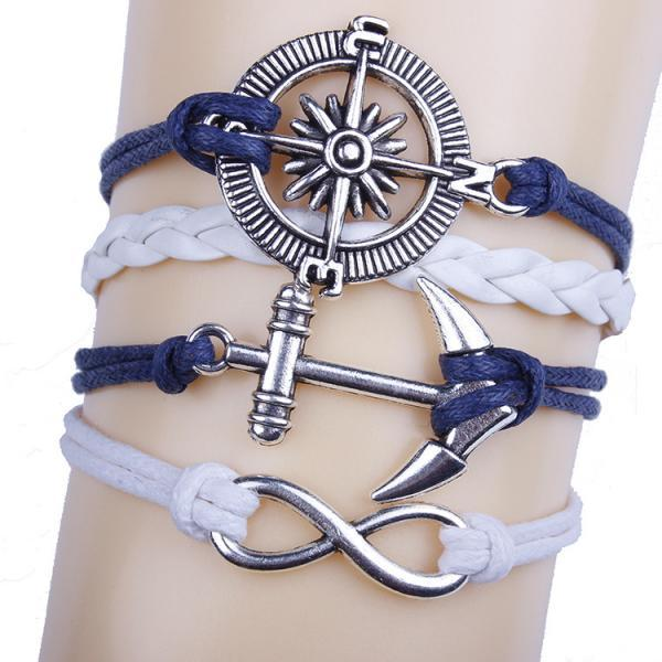 Anchor Compass Handmade DIY Bracelet
