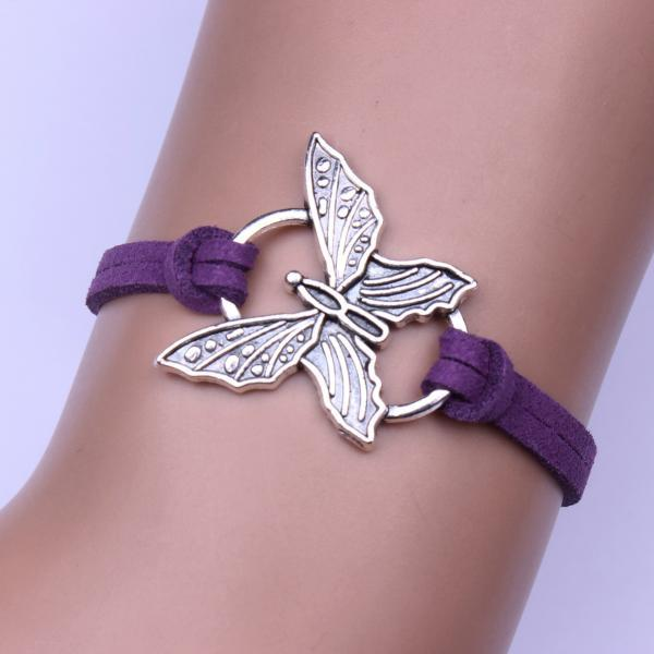Fashion Jewelry Butterfly Velvet Rope Bracelet