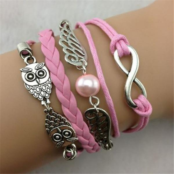 Anchor Eight Angel Wings Fashion Bracelet