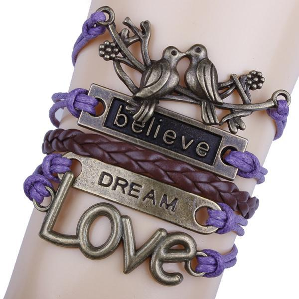 Love Birds Believe DIY Handmade Bracelet
