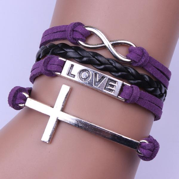 Personality Cross LOVE Hand-made Bracelet