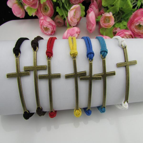 Retro Colorful Cross Wax String Bracelet