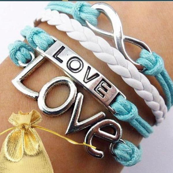 Fashion Love DIY handmade Colorful Bracelet