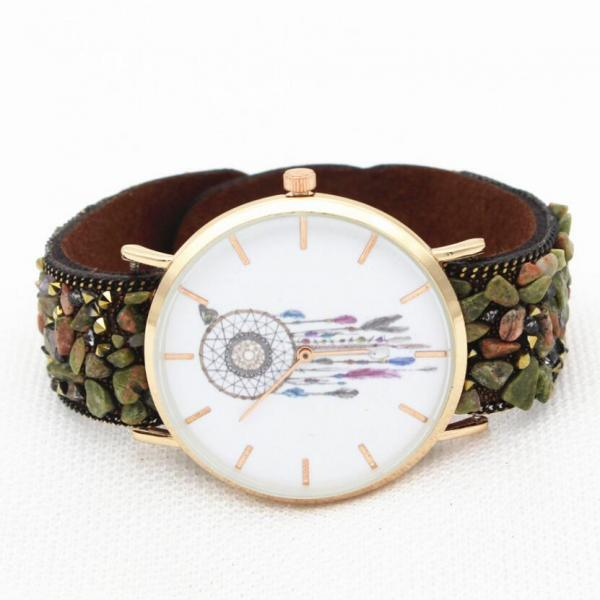 Dreamcatcher Print Gem Strap Watch