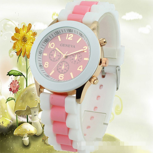 Fashion Three Eyes Silica Gel Watch