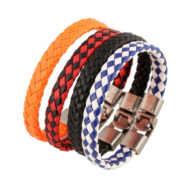 European Retro Woven Braided Leather Bracelet