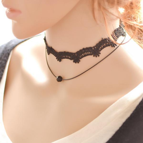 Korean version of the New Retro ladies Lace Necklace