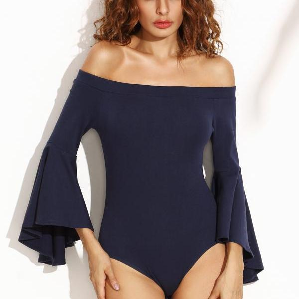 A Word Long Sleeve Jumpsuits Swimsuit